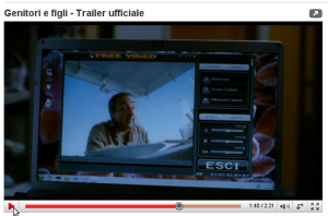 At 1m:40s in the Trailer of the Film Genitori e Figli