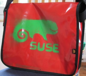 A SUSE grafity bag made on LinuxTag 2011