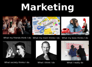 what I think I do marketing