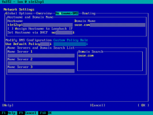 The new network settings screen