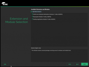Displaying selected and auto-selected beta extensions