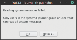 Improved message in the journal viewer