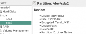 Partitioner: show the type of encryption